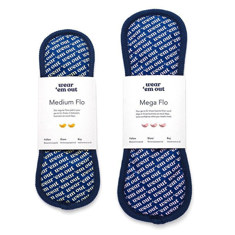 Code Red 25% Off Wear 'em Out reusable Period Sanitary Pads
